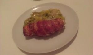 poulet poireaux bacon